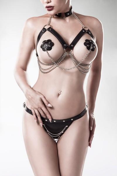 3-teiliges Erotikset von Grey Velvet schwarz