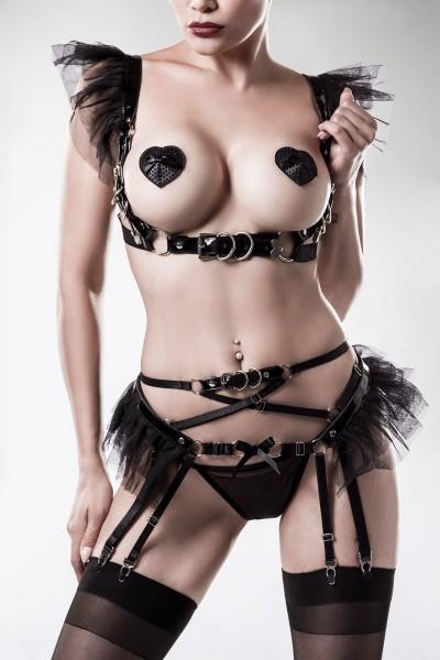 4-teiliges Erotikset von Grey Velvet schwarz