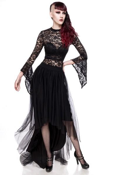 Gothic Tüllrock schwarz