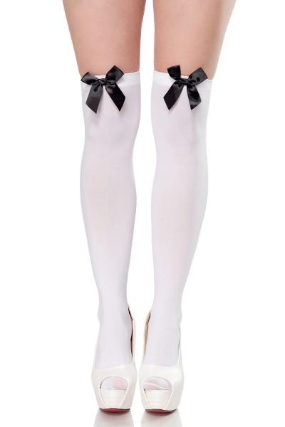 Stockings mit Satinschleife