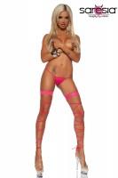 Schnür-Leggings pink