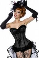 Burlesque-Satin-Corsage schwarz
