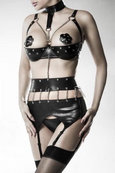 3-teiliges Ketten-Body-Set von Grey Velvet schwarz