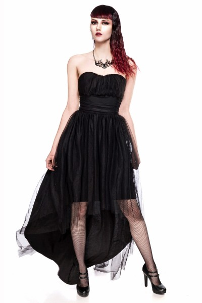 Gothik Tüll-Kleid schwarz